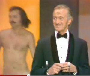 Streaker at the Oscars