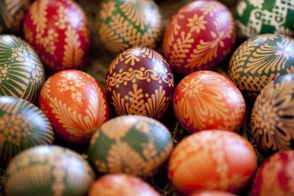 Sorbians Prepare Easter Eggs